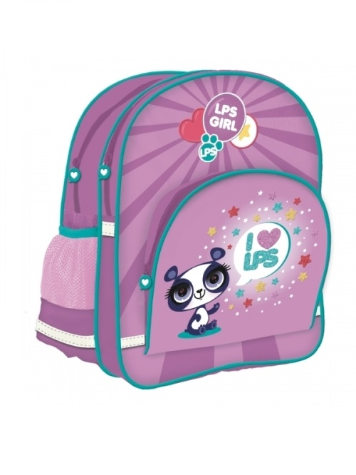 Littlest Pet Shop skoletaske lilla