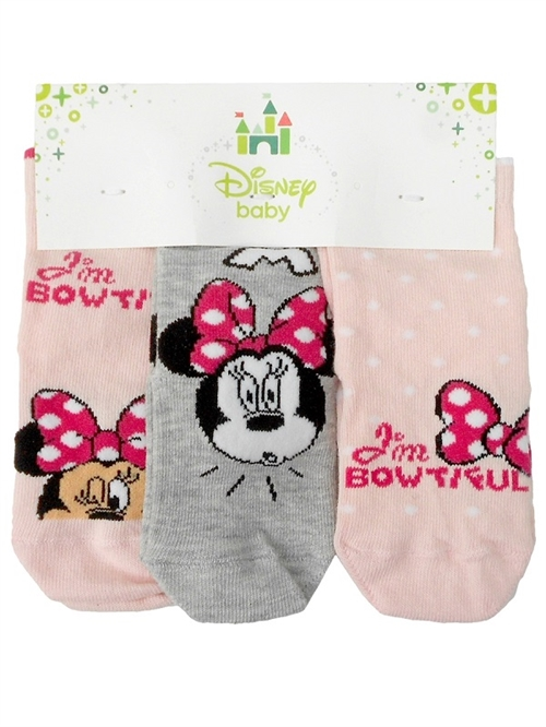 Disney Minnie baby strømper 3 par , i'm beautiful