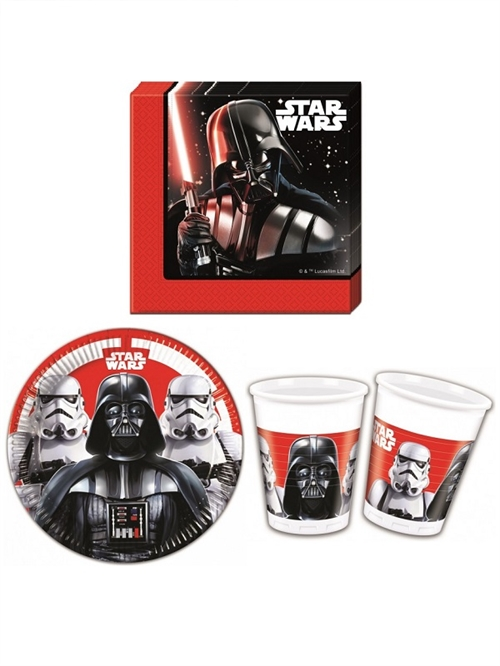 Star Wars Darth Vader paptallerkner, servietter , krus