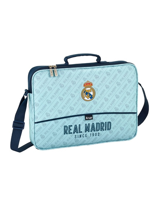 Real Madrid skuldertaske/ computertaske blå