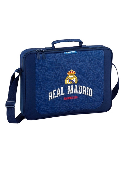 Real Madrid skuldertaske/ computertaske, navy