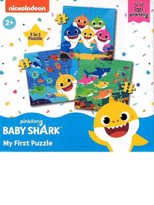 Baby Sharks puslespil 3 in 1
