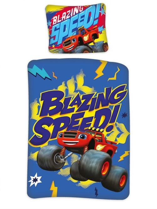 Blaze junior sengetøj, Blazing Speed ! 100*140 cm/ 40*45cm
