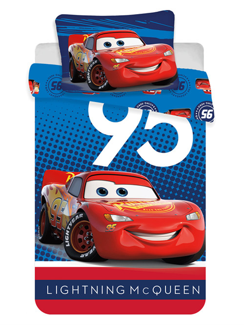 Disney Cars junior sengetøj , Lightning McQueen 95 , 100*140 cm/45*40 cm