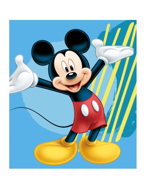 Disney Mickey fleecetæppe