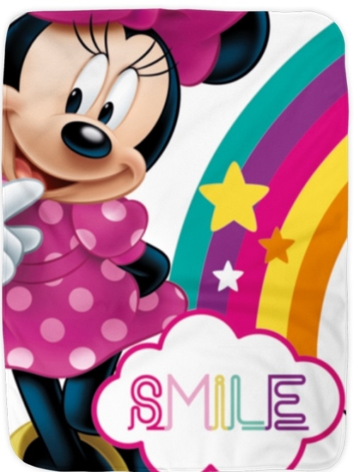 Disney Minnie fleecetæppe , Smile