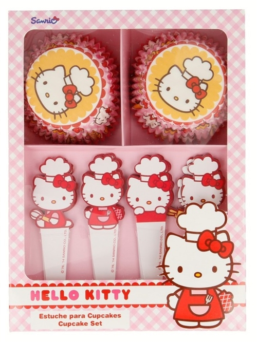 Hello Kitty muffinsforme og pynt