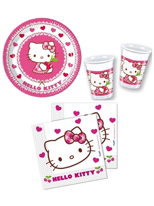 Hello Kitty tallerkner, servietter og krus