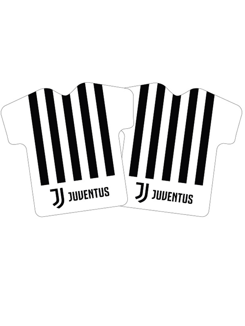 Juventus decorpude i T-shirt form, stribet