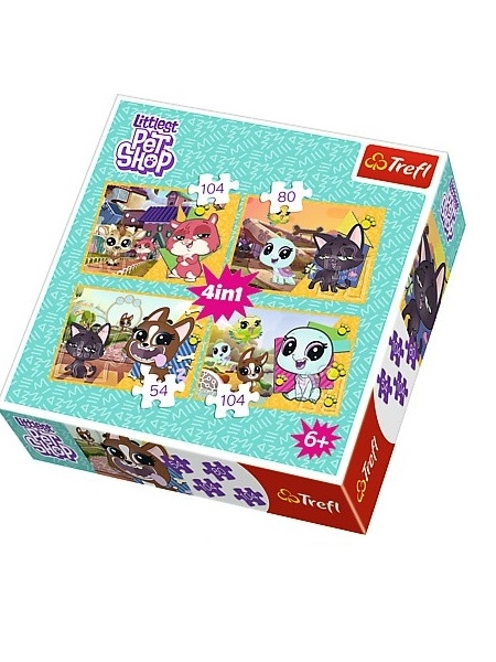 Littlest Pet Shop puslespil 4 in 1