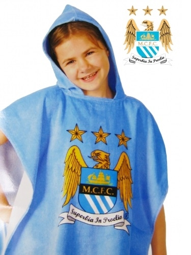 Manchester City badeponcho