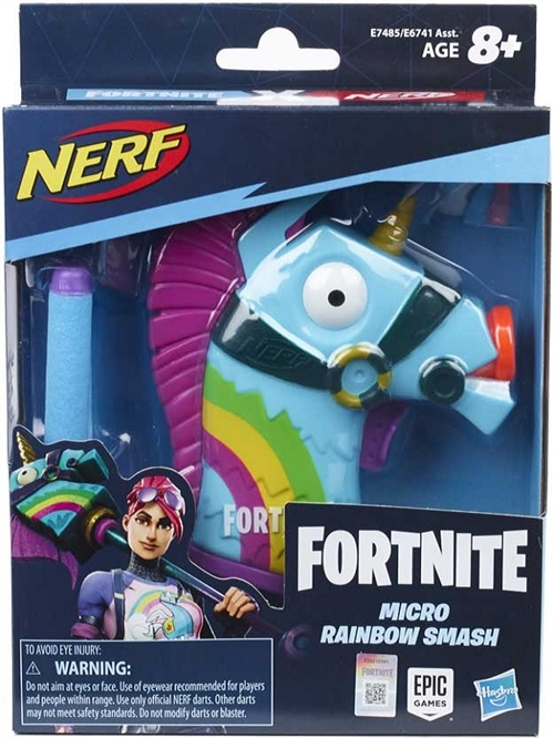 Fortnite Nerf Micro Rainbow Smash Llama