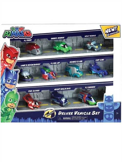 PJ Masks Nighttime Micros Deluxe Vehicle 10-Pack