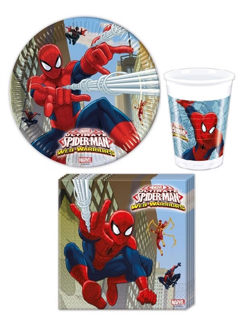Spiderman paptallerkner, servietter & krus, Ultimate Spider-man