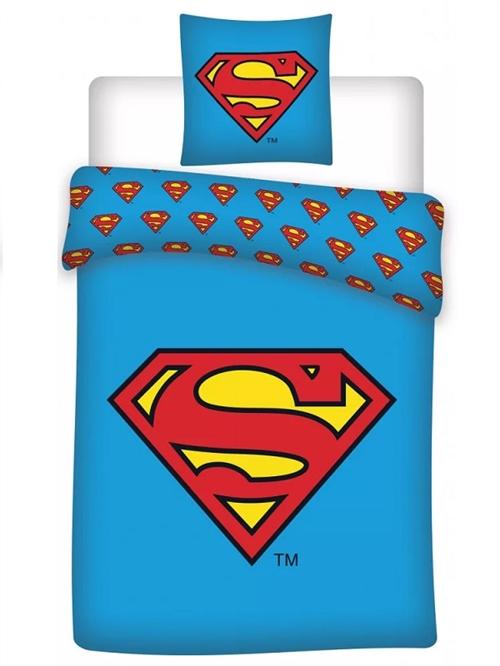 Superman sengetøj blå